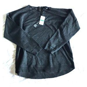 NWT Charcoal Tunic Sweater
